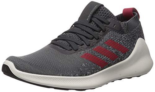 adidas Men's Purebounce + Running Shoe, Grey/Active Maroon/Carbon, 10 M US