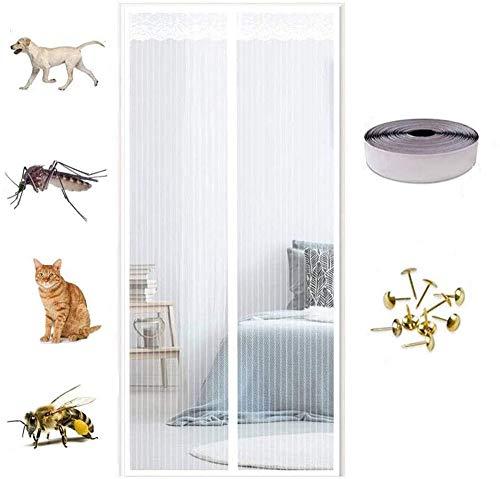Mosquitera magnética para puerta,Cortina antimosquitos de malla anti mosquitos, ventilación de verano...