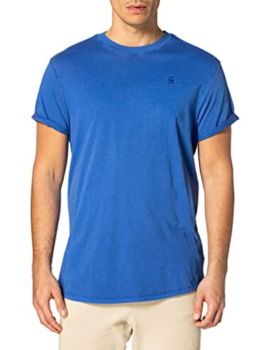G-STAR RAW Lash Straight Fit Camiseta de Manga Corta, Hudson Blue GD 2653-c205, L para Hombre