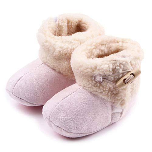Auxma Baby schönen Herbst Winter warme weiche Sohle Schneeschuhe weiche Krippe Schuhkleinkind Stiefel (12cm(0-6 Monate), Rosa)