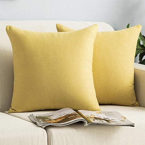 Lipo Chenille Pillow Covers 16x16 Set of 2 Decorative Euro Throw Pillows Cover Soft Cushion product image