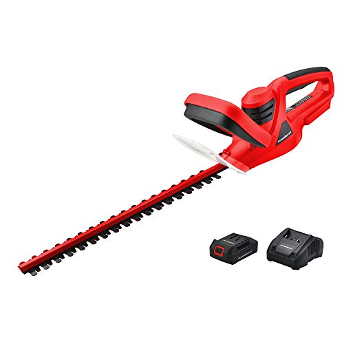 PowerSmart 20V Lithium-Ion Cordless Hedge Trimmer, 1.5 Ah Battery and Charger Included PS76105A