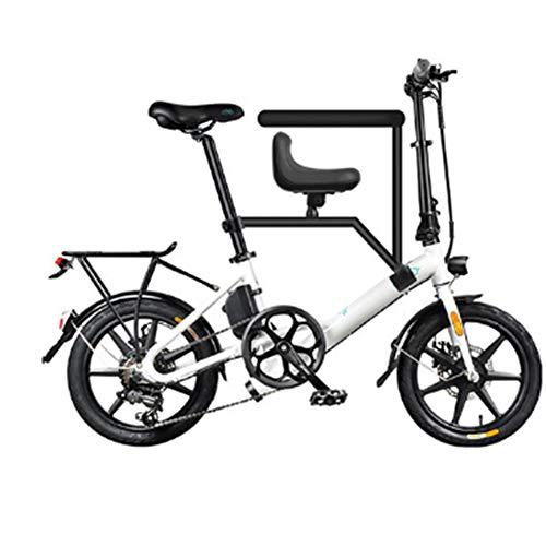 LILIJIA Bicicleta Eléctrica Plegable Aluminio 250 Vatios con Pedal para Adultos y...