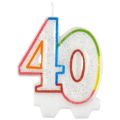 Amscan, vela para el cumpleaños 40 9900811 de 7,5cm