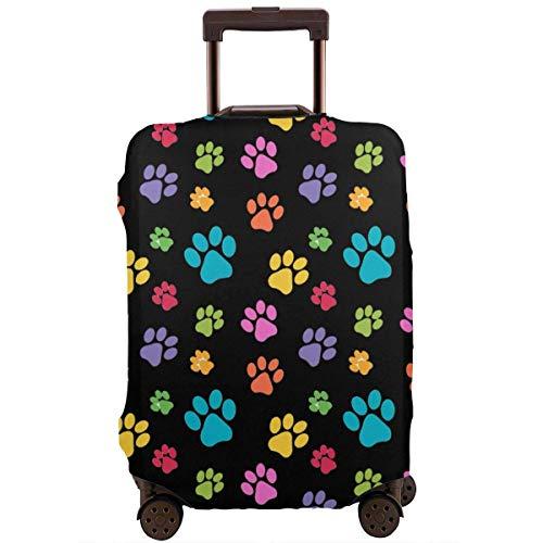 Dog Paw Prints Funda Protectora de Maleta de Moda, Funda Protectora de Maleta, Resistente a los arañazos, a Prueba de Polvo e Impermeable, Lavable, Adecuada para 18-32 Pulgadas