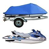 ZZX 4.2 x 3 m Jet Ski Abdeckung, Regenschutz Sonnenschutz Staubschutz Winterschutz für Motorboot Persenning Plane passt für Jet-Skis 136' bis 145' lang,Blau