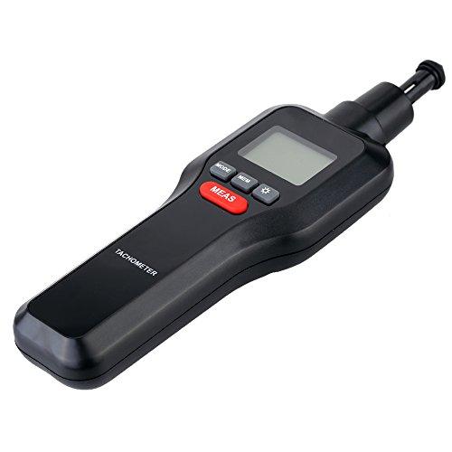 Tacómetro Digital, Mengshen 2 en 1 Medidor de Velocidad de Contacto sin Contacto y...