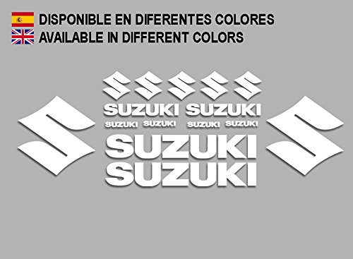 Ecoshirt 5T-IHG8-NO8T Pegatinas Suzuki F191 Stickers Aufkleber Decals Adesivi Moto Bike, Blanco