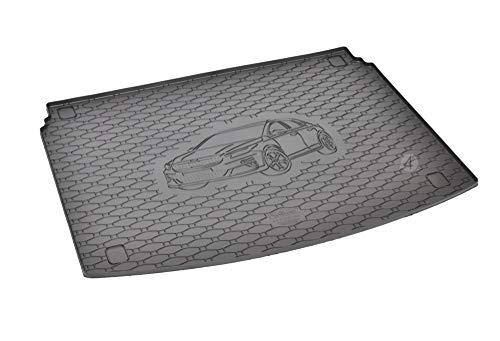 Passgenau Kofferraumwanne geeignet für KIA X-Ceed ab 2019 ideal angepasst schwarz Kofferraummatte + Gurtschoner