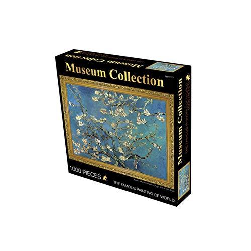 Legpuzzels 1000 stuks Abrikozenbloesem Volledige tak Legpuzzels voor volwassenen DIY Woondecoratie Puzzels Papier beroemd schilderij puzzel decompressie legpuzzel