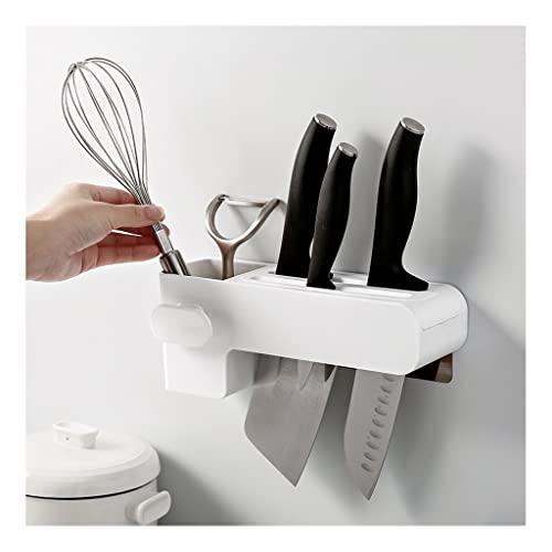 Portacuchillos cocina Soporte for cuchillos Punch-Free CUCHILLO SOBRE MULTIFUNCIONAL ALMACENAMIENTO RACK CHILLIGHTICK CAGE CAJA DE CUCHILLA DE CUCHILLO MONTAJE MONTAJE Bloque cuchillos vacío