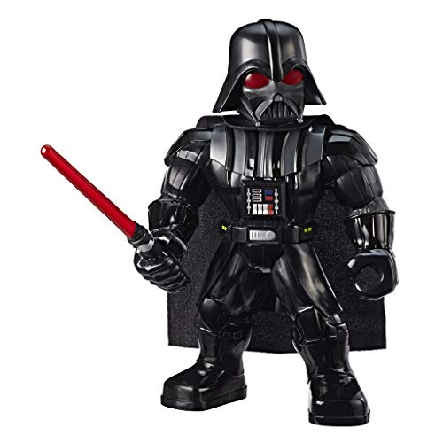 Playskool Star Wars Galaxy Heroes Mega Mighties Darth Vader Action-Figur mit Lichtschwert-Accessoire, Spielzeug für Kinder ab 3 Jahren, 25 cm