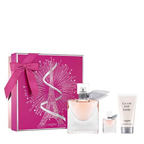 Lancome La Vie Est Belle Geschenk Set, 50ml Eau De Parfum, 50ml Body Lotion & 4ml EDP