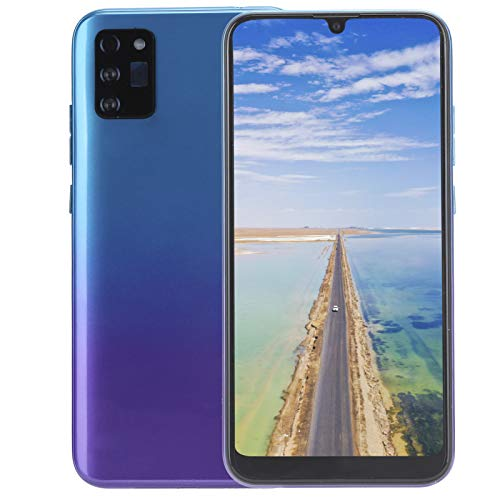 Smartphone Desbloqueado, Pantalla de Gota de Agua Grande de 6.26 Pulgadas, 1 + 8GB, reconocimiento Facial, para Sistema Android 5.1, Soporte máximo para expansión 128GB(púrpura)