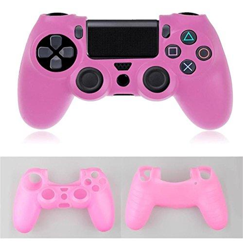 Colorful Für PS4 Controller Schutzhülle Case Soft Silikon Hülle Cover Oberschale Skin Soft Touch Schale Shell für Playstation 4 PS4 Controller,Rosa