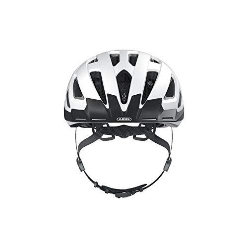 ABUS Urban-I 3.0 Stadthelm - Fahrradhelm mit Rücklicht für den Stadtverkehr - für Damen und Herren - 86859 - Weiß, Größe M