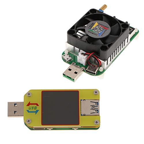 Colcolo Medidor de Corriente de Voltaje USB 3.0 Tipo C + Carga Electrónica USB de 35W
