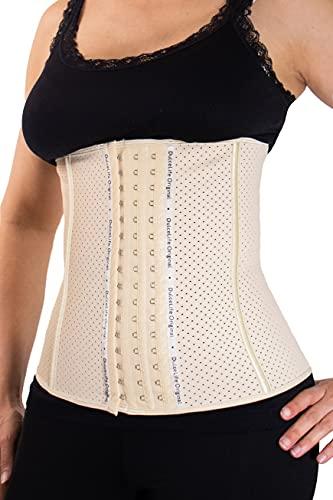 Dulcelife Faja Reductora Cinturilla Latex Flex para Mujer | Ayuda a Reducir Vientre, Cintura y Espalda | Faja para Deporte | Faja Postparto | Alta Gama| Talla 3XL | Beige