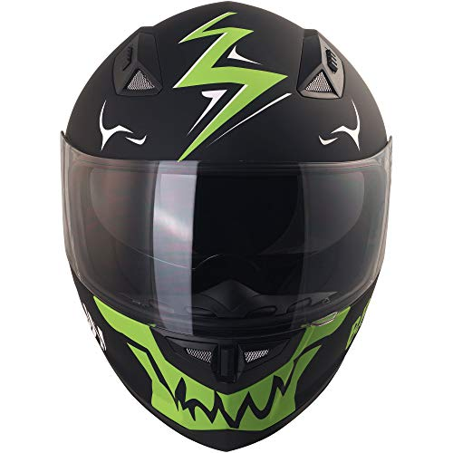 Broken Head Adrenalin Therapy II matt (M 57-58 cm) Motorradhelm – Helm grün – Integralhelm - 3