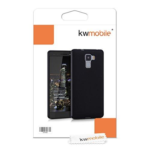 kwmobile Huawei Honor 7 / Honor 7 Premium Hülle - Handyhülle für Huawei Honor 7 / Honor 7 Premium - Handy Case in Schwarz matt - 6