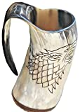 Alfiya Nutica Store Juego de Tronos Stark Wolf Viking - Taza, diseo de cuerno vikingo