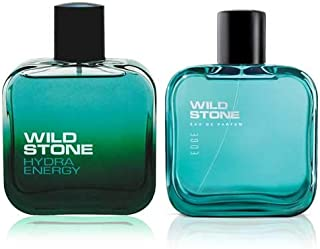 Wild Stone Edge and Hydra Energy Perfume for men,100 ml each(Pack of 2)