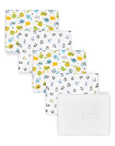 Be Mammy Paquete de 5 Conjuntos de Pañales para Bebés 70x80 cm BESD002 (Niño1 (5 Pack), 70x80)