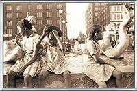 ポスター ジョン バション Hot Summer in the City 1940 額装品 アルミ製ベーシックフレーム(シルバー)