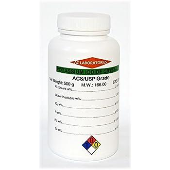 Potassium Iodide Reagent ACS/USP Granular Crystalline 99.9% Pure 0.5 kg 500 g