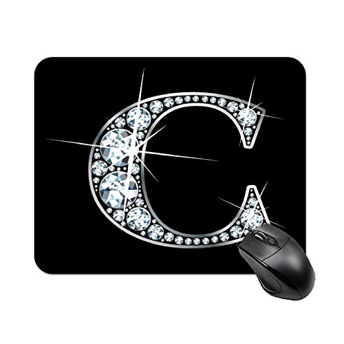Gaming Mouse Pad Letter C Design Art Desktop and Laptop 1 Pack 25x20x2cm/9.8x7.9x0.8inch
