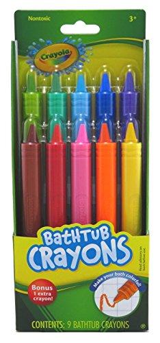 Crayola Bathtub Crayons, Assorted Colors 9 ea