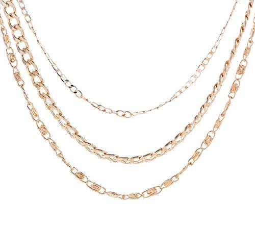 Beydodo Collares Mujer Joven Largos Bisuteria Cadena Multicapas Collar para Mujer Colgante Collar Oro