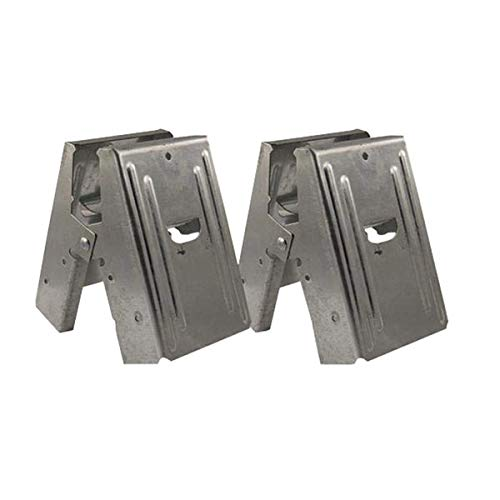 2-Piece Heavy Duty Sawhorse Brackets with 400Lb / 180Kg Capacity (One Pair), TARP-TL-02