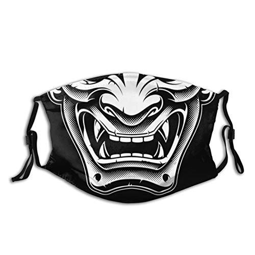 Japanese Demon Oni Face Mask Fashion Dustproof Breathable Reusable Scarf Adjustable Washable Protective Bandana