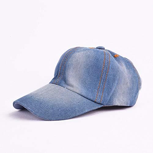 Gorra de béisbol de Mezclilla Gorras de Hip Hop Sombrero de Sol Ajustable para Deportes de Verano Naranja