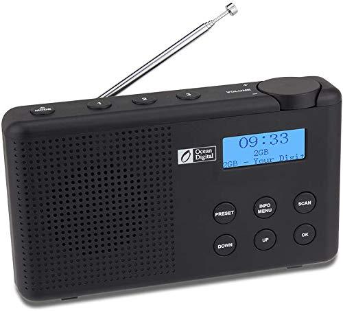 Ocean Digital DK23 Portatile DAB/DAB+/FM Radio Digitale con Batteria Ricaricabile, Altoparlante,...