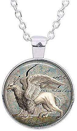 Everquest-Halskette mit Schnee-Griffin-Anhänger aus Kunstharz