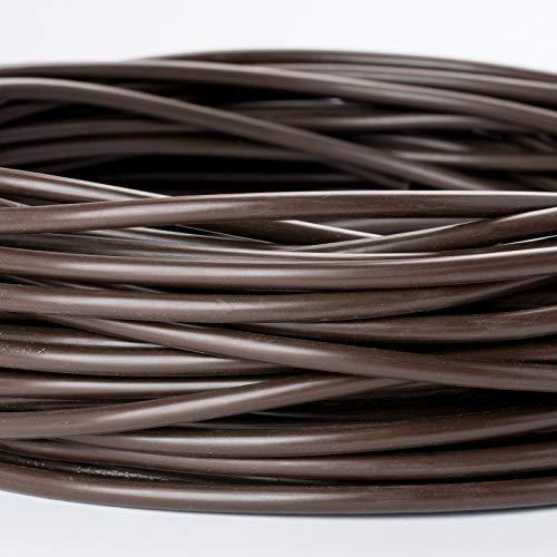 Zuleitung H03VV-F 3 x 0,75mm PVC isolierte Rundleitung Leuchtenkabel Lampenkabel Kabel Anschlusskabel (10m, braun)