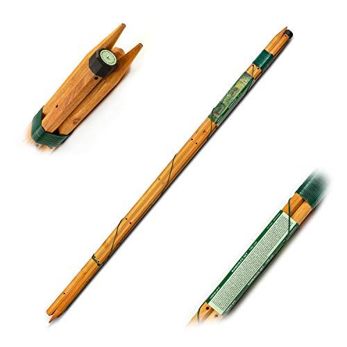 robinia-pro Rankhilfe-Set, Rankstäbe, Staudenhalter, Spalier, Tomatenstäbe, auch für Pfingstrosen aus Robinienholz (Länge 120 cm)