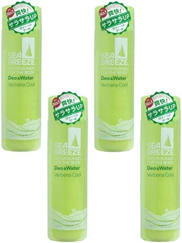 [Bulk Purchase] Sea Breeze Deo & Water Verbena Cool Fragrance 160ml (Quasi Drug) [x4 Pieces]