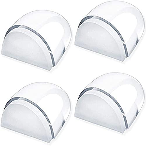 Parachoques de la manija de la puerta, protector de pared de 4 piezas protectores de pared transparentes para todos los pisos duros para proteger las paredes y los muebles, sin perforar