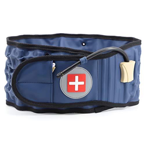 LFLYBCX Cinturón de Descompresión de Soporte Lumbar - Soporte de Espalda Inflable Tracción de Aire Espinal Espalda Lumbar - Soporte de Descompresión Cinturón de Espalda - Alivio del Dolor Lumbar,Blue