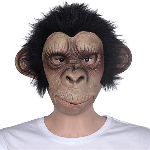Kkoqmw Mscara de Halloween con Forma de Animal, Juego de rol, Disfraz de Mono, Adultos, nios, ltex, decoracin Transpirable, Fiesta, mscara Divertida