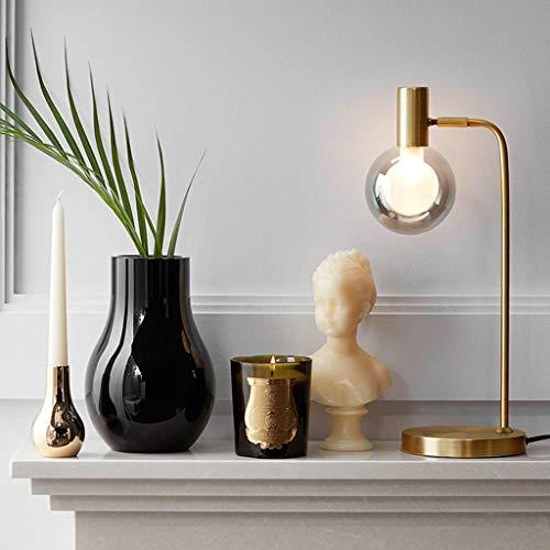 Lfixhssf Ombre Nordic Living Room tafellamp rond glazen bol vrij licht op het nachtkastje voor het lezen van decoratieve Studio's Desk Lamp Lfixhssf (kleur: Smoke Gray Lampshade)