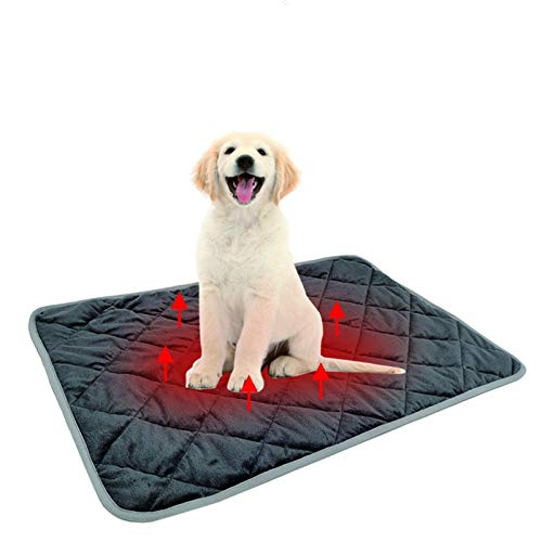 Self-Heated Bed for Dog, Warming Pet Bed with 3 Layers Heat-generating & Five-Layer Insulation Self Heating Cat Mat Power Safety The Best Sleep for Your Pets