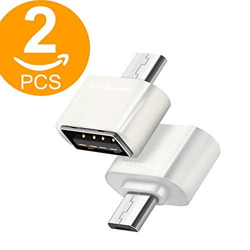 Act USB-Adapter Micro-USB-OTG-Stecker zu USB-B-Buchse (2x Weiß) White x 2