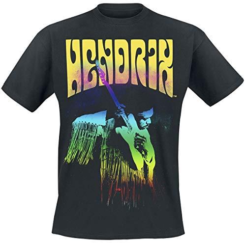 Jimi Hendrix Experience Männer T-Shirt schwarz M 100% Baumwolle Band-Merch, Bands