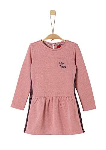 s.Oliver Mädchen 53.908.82.2986 Kleid, Rosa (Light Pink Melange 42w4), 122 (Herstellergröße: 122/REG)