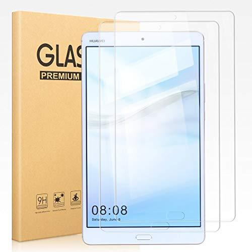 Pnakqil [2 Stück Schutzfolie für Huawei Mediapad M3 8.4, Bildschirmschutzfolie 9H Festigkeit HD Klare Bildschirmschutz Anti-Kratzen Panzerglas Schutzglas für Huawei Mediapad M3 8,4 Zoll