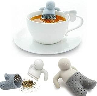 ODC - Filtro colador de té de Silicona alimentaria e Inodoro para tatano en Forma de muñeco Que Tome su baño en la Taza.